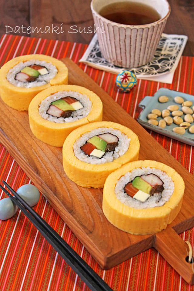 買ってイングボード乗った卵まき寿司