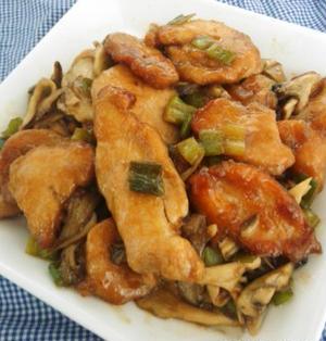 簡単美味しい♪鶏むね肉とネギと舞茸の香味ポン酢炒め☆