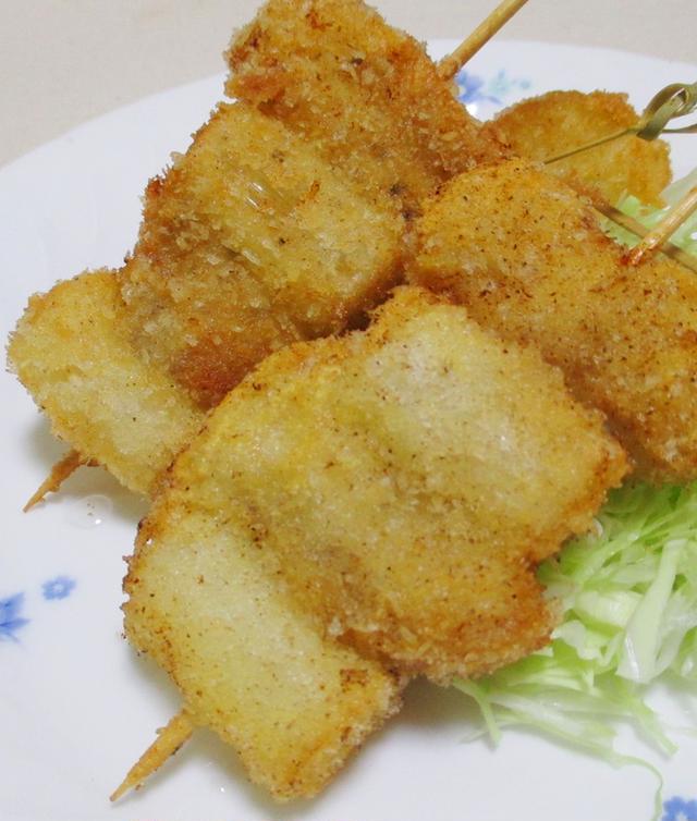 5. 豚肉と長ねぎの串カツ