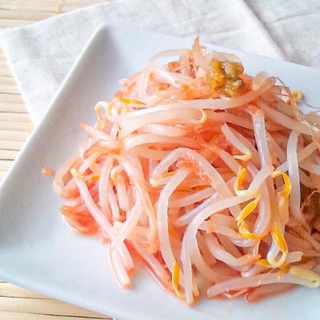 【おつまみレシピ】もやしの柚子胡椒ケチャップ和え。食材一つだけ!
