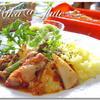 チキンと筍のバジルトマト煮