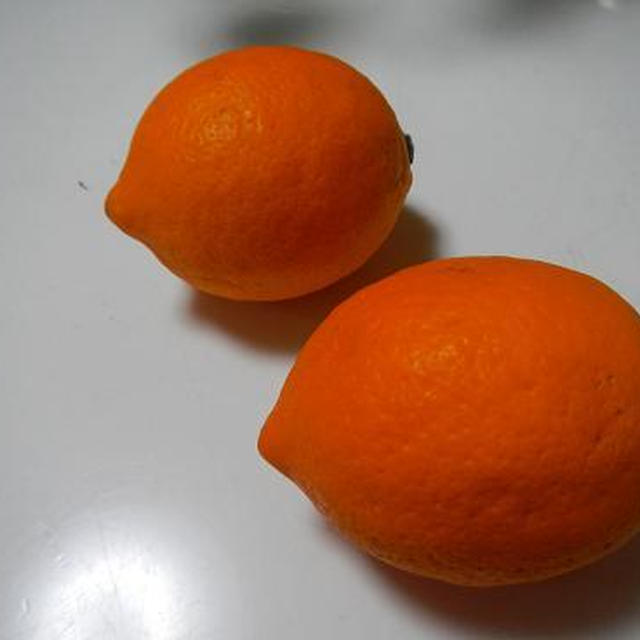 オレンジ色のレモン