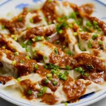 胡麻生姜ダレワンタンのレシピ