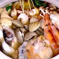 【レシピ】贅沢! 手羽元と海鮮の鶏ガラ塩鍋(^^♪ by ☆s4☆さん