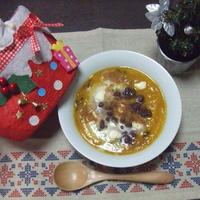[砂糖&生クリーム不使用]☆南瓜とりんごと小豆の豆乳ポタージュ