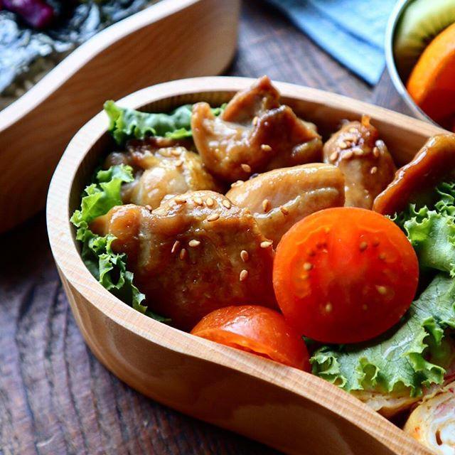 定番☆鶏もも肉の照り焼き弁当♡【#お弁当#チキン照り焼き】