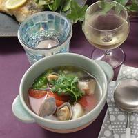 鱈とあさりとトマトのスープ