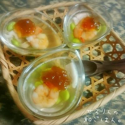 海老と塩豚のゼリー寄せde ムッちゃん♡祝‼1000up