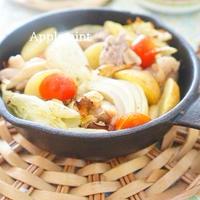 スキレットで鶏肉と野菜のぎゅうぎゅう焼き