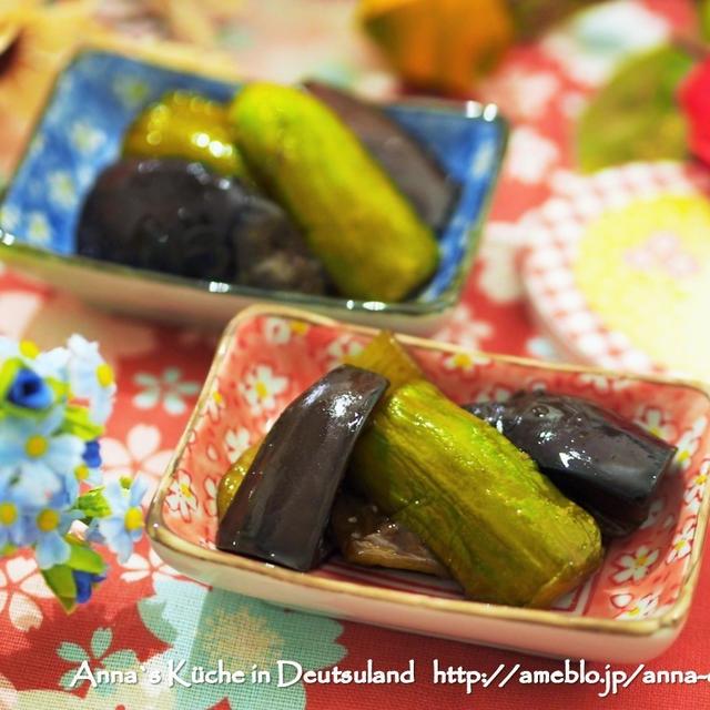 【副菜】海外でるご飯のおとも♡キュウリのキュウちゃん風キュウリとナスのおつまみ と簡単サラダ