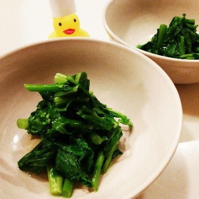 レシピブログモニター企画第六段!ぱぱっとと菜の花のおひたし