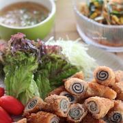 豚バラ肉の梅しそ巻き&ダブル海苔巻き