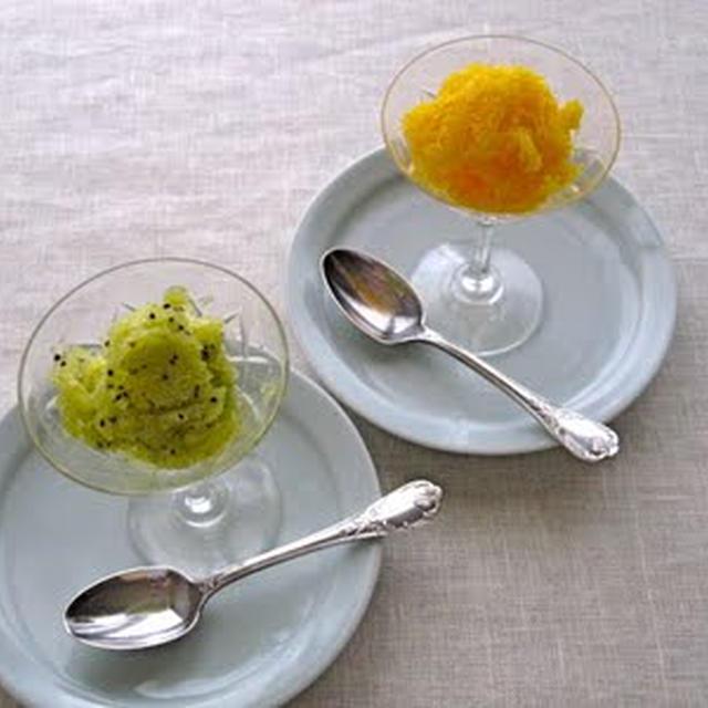 キウイとマンゴーのソルベ
