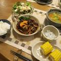 煮込みハンバーグの晩ご飯 と ロコモコ風弁当 と 地蔵盆♪
