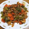 生姜焼き用豚肉の酢豚風&イワシと茄子の蒲焼き