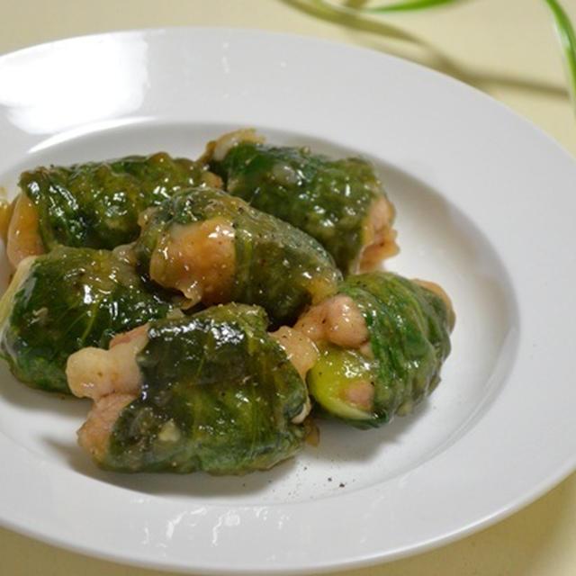 レシピ★ツルンとおいしい青梗菜の豚肉ロール☆