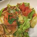 春キャベツ消費・・トマトとカレーパウダー・お醤油のコラボで絶品炒め物