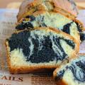 ホットケーキミックスで♪黒ゴマのマーブルパウンドケーキ ☆