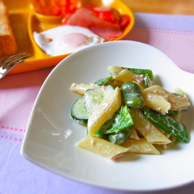 グリーン野菜のマカロニサラダ♡