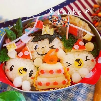 ハピバー!6才お誕生日のお弁当☆(キャラ弁)