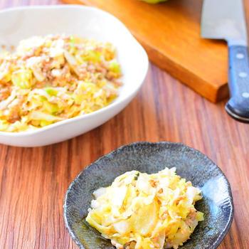 ご飯が進む!キャベツとひき肉のピリ辛炒めのレシピ