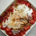 塩さばトマトに新たまねぎ by culinaさん