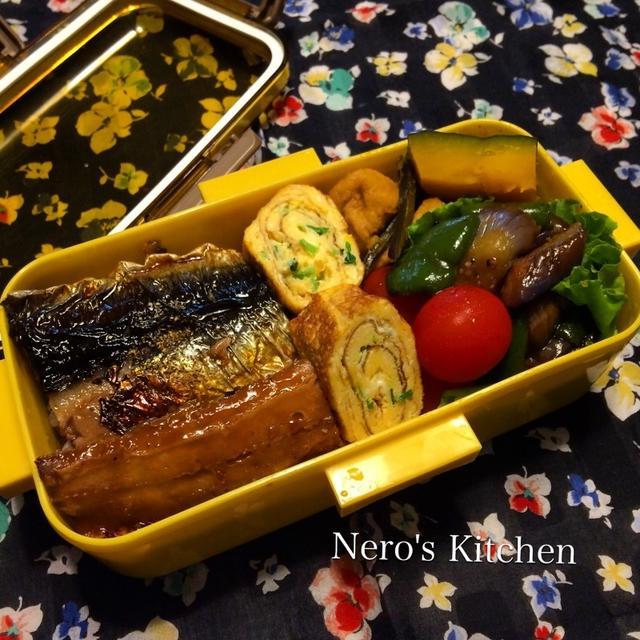秋刀魚の蒲焼き弁当♪