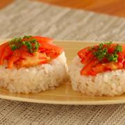 【しかない料理】おもてなしに♪ トマトとアンチョビの野菜寿司