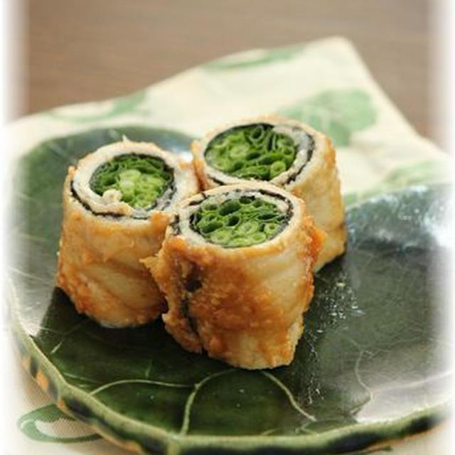 ネギ海苔の味噌ロール。 とお弁当。