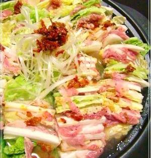 家計にやさしい♪ ☆【豚肉と白菜の食べるラー油鍋 ♪】☆美味しく♪大満足