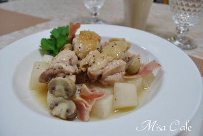 鶏肉と大根のブイヨン煮