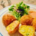イースターにおすすめ!アスパラと卵のミモザコロッケ by ふじたかな(Artichaut)さん