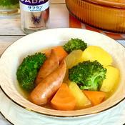 ごろごろ野菜とウインナーのサフランポトフ