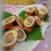 【お弁当に最適!】ベーコン&豚肉&ウィンナーのチーズ巻き