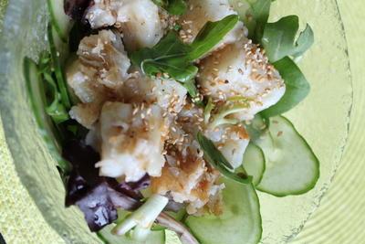 ルクエで鱈(冷凍)のイタリアン蒸し&鱈のピリ辛サラダ、7/1はハッピーカナダデー☆