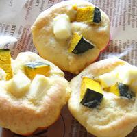イエゴハン「かぼちゃとクリームチーズのマフィン」