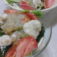 塩くらげと生わかめのサラダ
