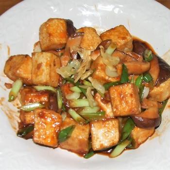 木綿豆腐の中華ネギ炒め&ロールキャベツ