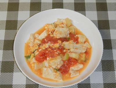 トマトの豆腐炒め