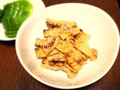 おつまみレシピ:油揚げのカリカリ焼き