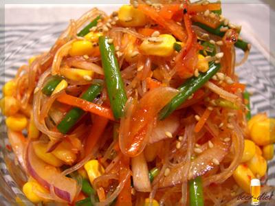 野菜たっぷり辛口春雨サラダ