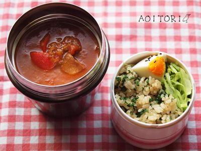 今日のお弁当(スープジャーでカレー!)