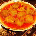 大皿盛り付けでドーン!!!みんなde大勢で♪ワイワイ♪いただく~☆お肉も野菜もたっぷりのロールキャベツ ~トマト風味~