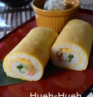 ♪★卵で巻いた恵方巻き★大和野菜を使ったやわらかレシピ♪
