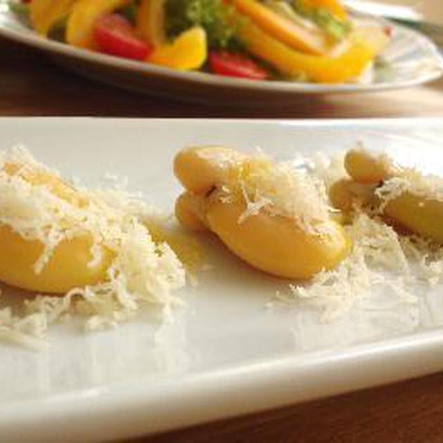 そら豆と道産ナチュラルチーズの春色前菜