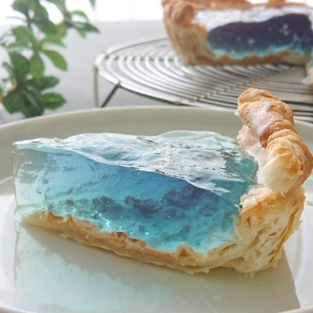 青のゆらめきゼリータルトのレシピ