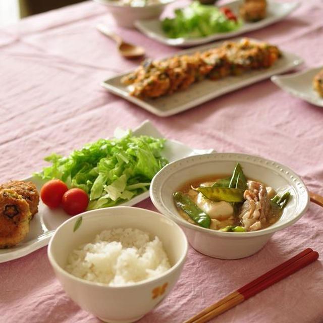 オクラ入りつくねと豆腐ときぬさやのとろとろ煮、ピカルの定理観てる??