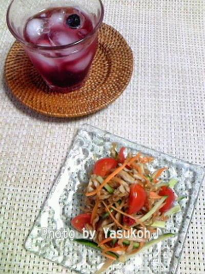 七夕のお願いごと☆夏にお勧め黒酢の活用☆切干大根でソムタム風サラダ☆