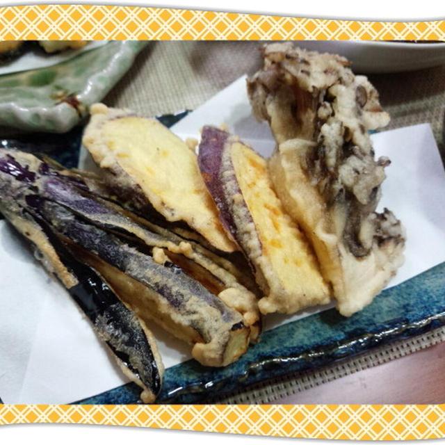 季節野菜(茄子・さつま芋・舞茸)の天ぷら