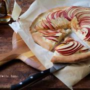 リンゴで作る、スイートピザ。